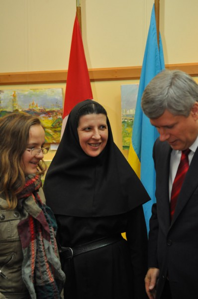 Prime Minister of Canada Stephen Harper has visited Ukrainian Catholic University during  his official visit to Lviv on the 26th of October