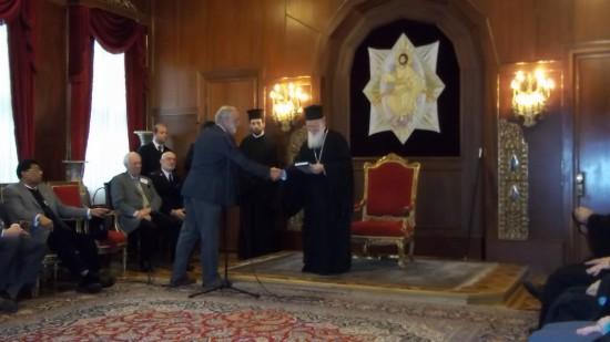 Hubert van Beek secretary of GCF and patriarche Bartholomew I