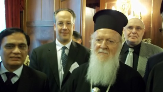 Antoine Arjakovsky and patriarche Bartholomew I