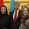 Rencontre des étudiants du Mastère en études œcuméniques avec le premier ministre du Canada Stiven Harper lors de sa visite officielle à Lviv