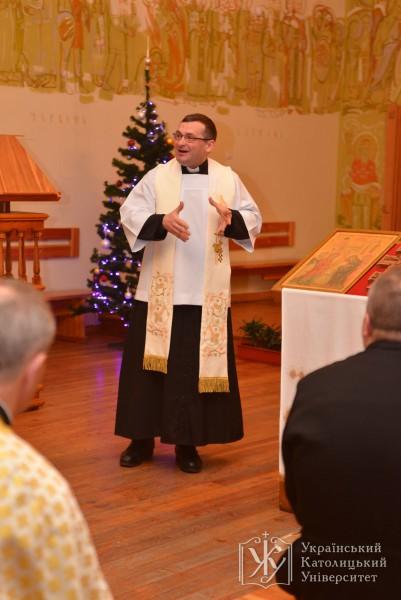 Отець Григорій Драус, настоятель парафії св. Івана Павла II  Римо-Католицької Церкви